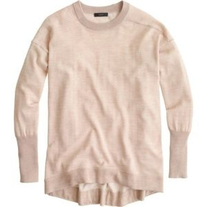 J CREW Petite merino-cotton tunic sweater PXS